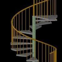 Escalera Caracol 3d Dwg Dibujo De Autocad Modelos De Escaleras 3d Spiral Staircase Staircase Stairs