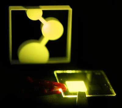 On the way to printable organic light emitting diodes #lightemittingdiode Researchers able to reduce number of different layers that make up an OLED to just one, and could allow light-emitting diodes to be printed with inkjet printers #lightemittingdiode On the way to printable organic light emitting diodes #lightemittingdiode Researchers able to reduce number of different layers that make up an OLED to just one, and could allow light-emitting diodes to be printed with inkjet printers #lightemittingdiode