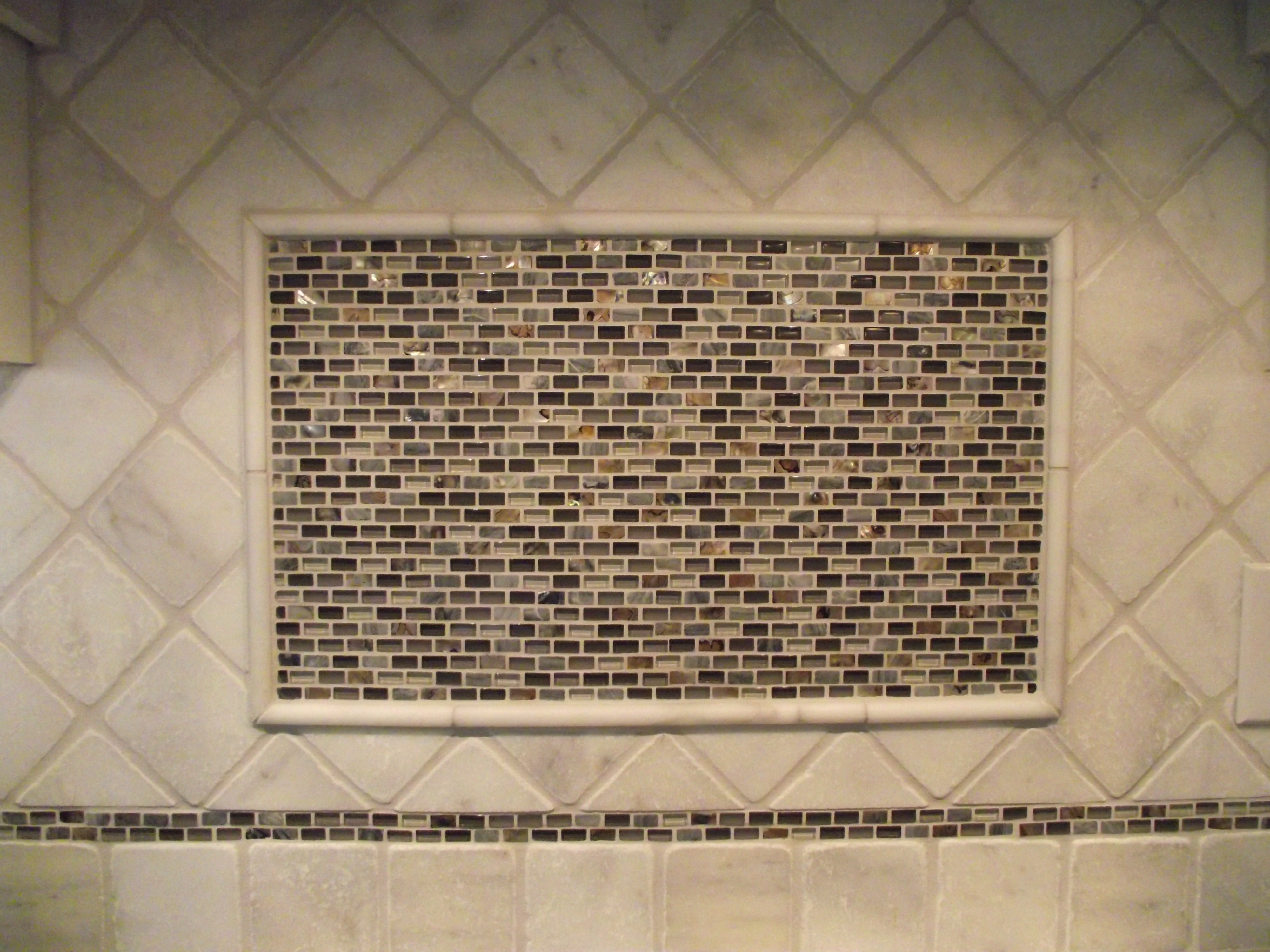 Backsplash Imperial 4x4 White Tumbled Stone With Madreperla Grigio Mosaic Tiles Ceramic Floor Tiles Blue Pearl Granite Mosaic Tiles