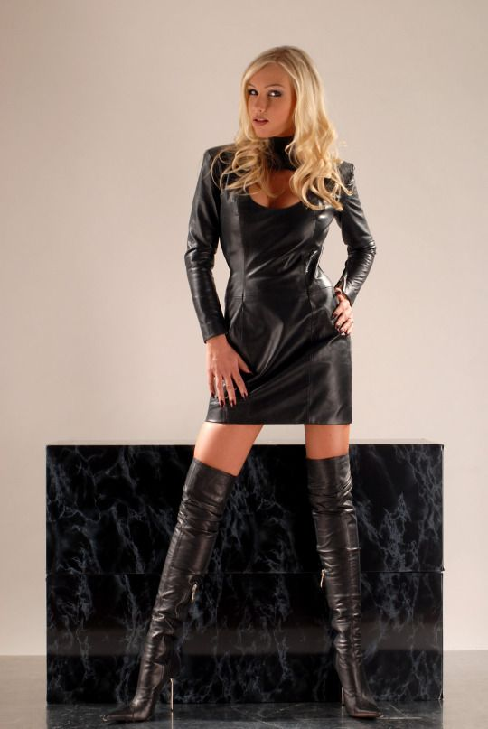 women in leather