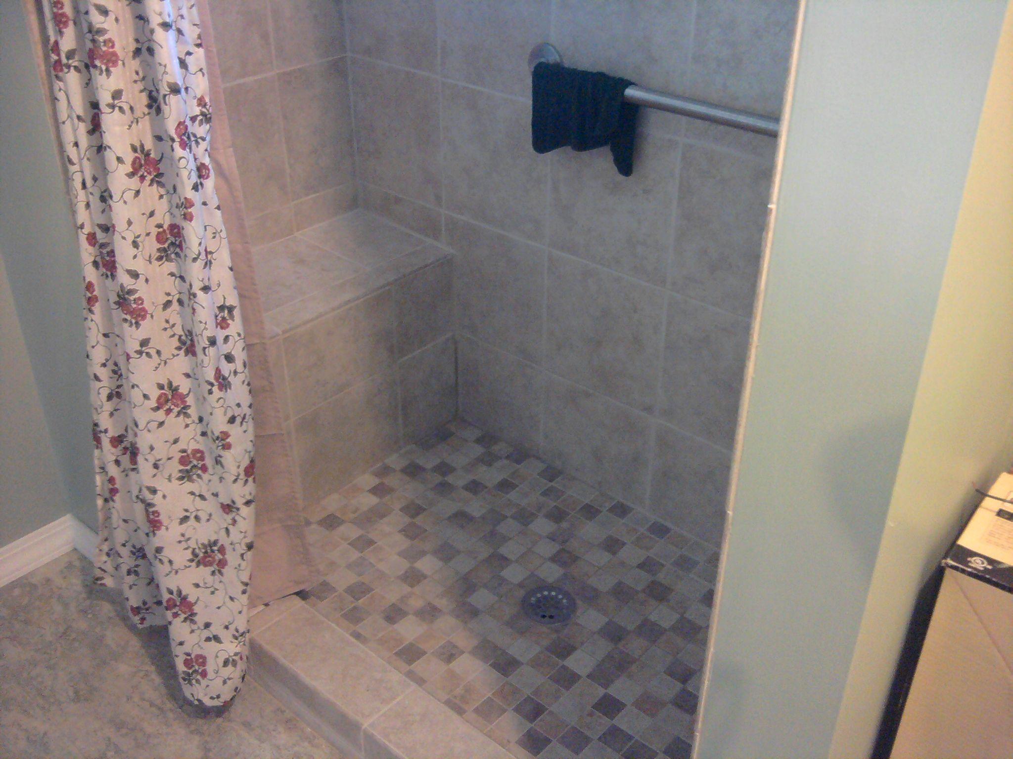 Neutral Tile Shower Design Bathroom Pinterest Tile