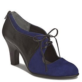 Love the pop of blue in these cutout heels!