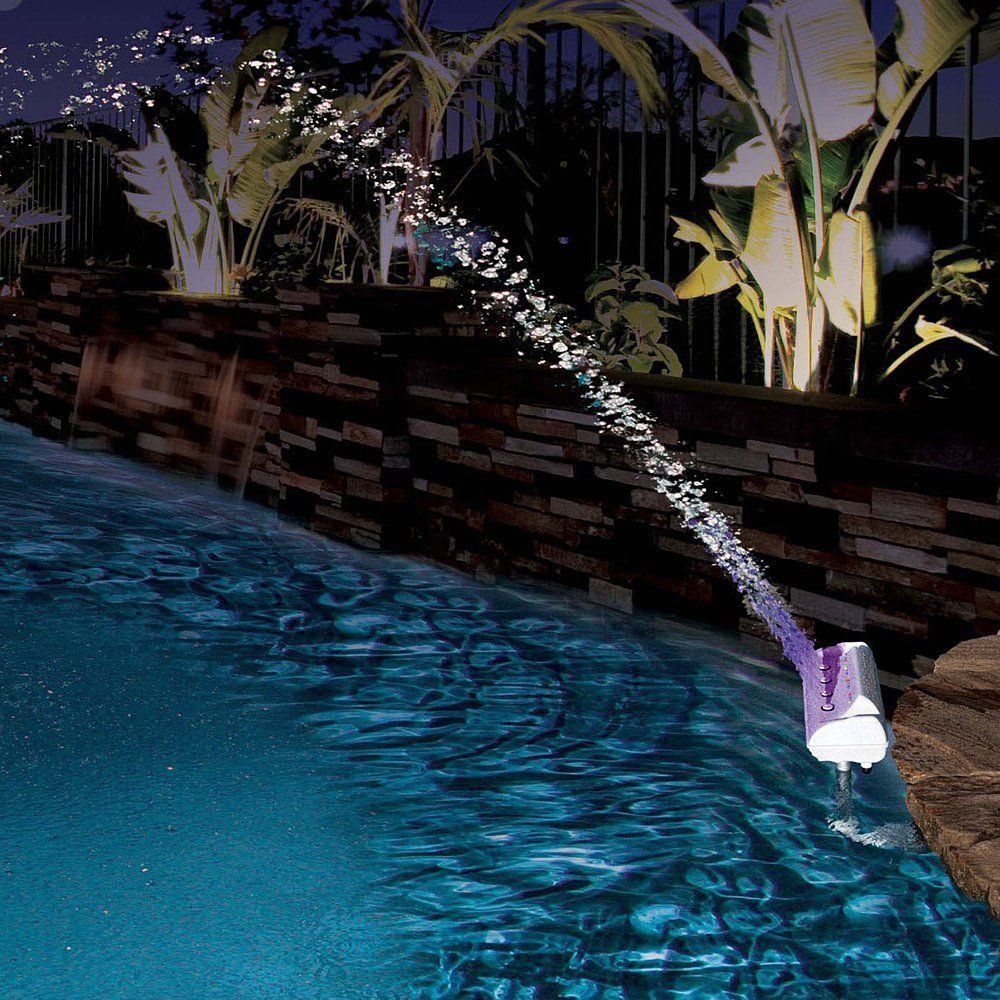 Color Cascade Waterfall Swimming Pool Fountain Led Light Outdoor