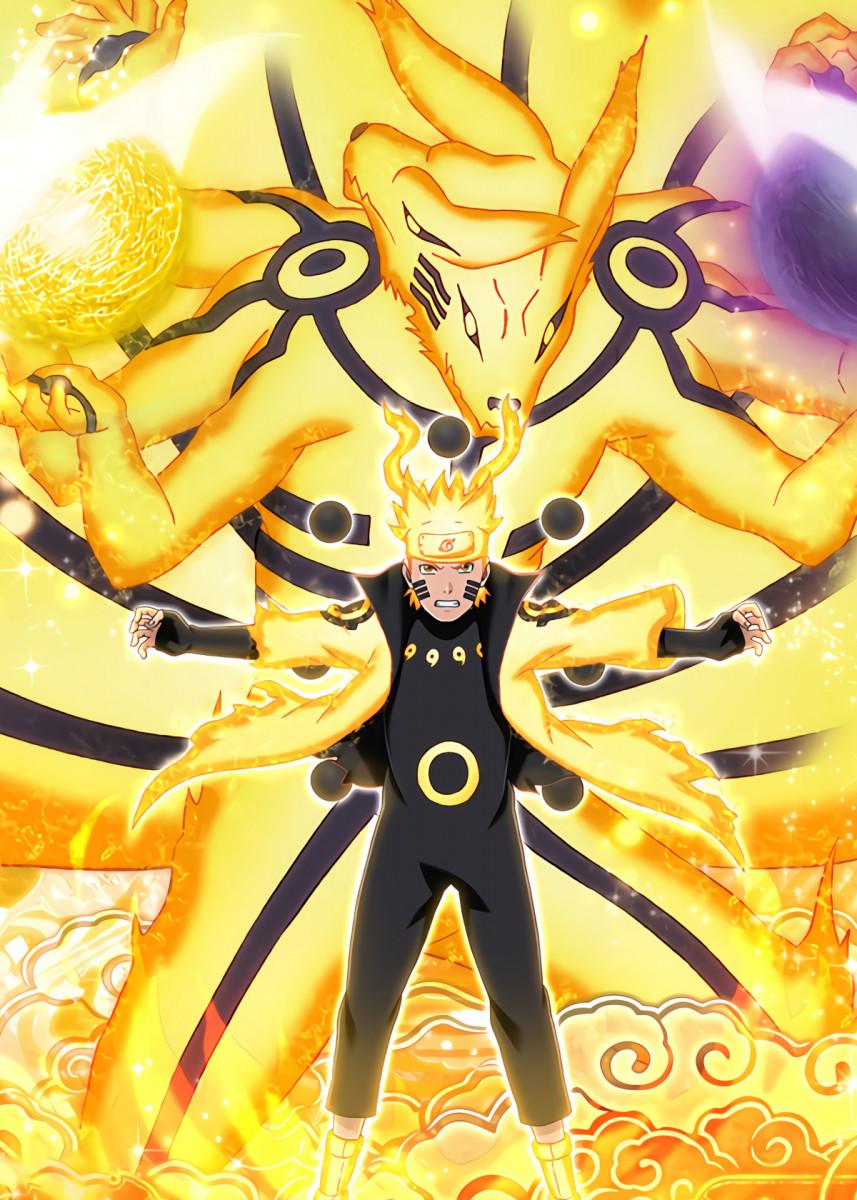 Naruto Kurama Poster By Onepiecetreasure Displate Naruto Uzumaki Hokage Wallpaper Naruto Shippuden Naruto Cool