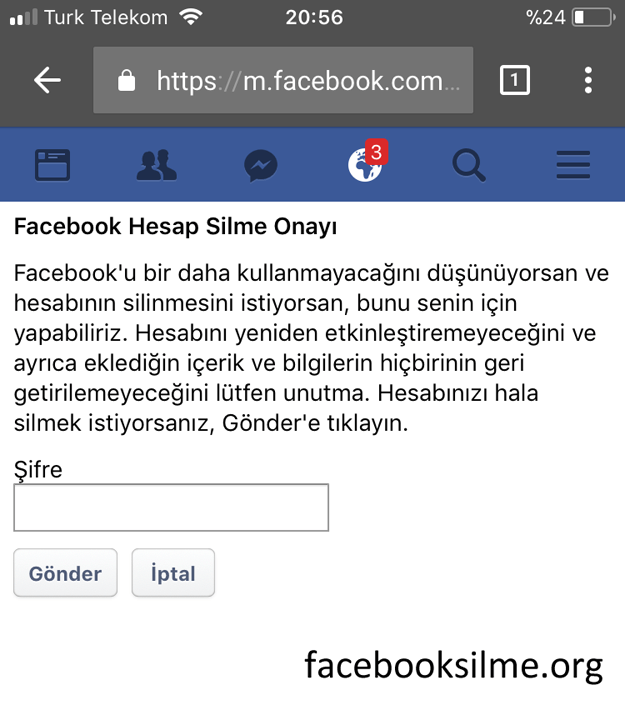 Telefondan Kalici Olarak Facebook Hesap Silme Facebook Bilgi