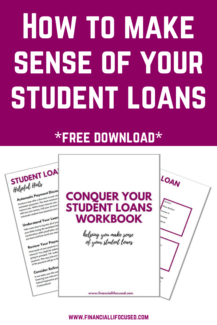 Conquer Your Student Loans Workbook Student Loans Apply For Student Loans Workbook