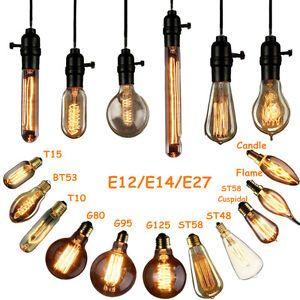 Lampadine E27 E14 B22 40w 60w Edison Vintage Led Lampada Filamento Luce Caldo Ebay Lampadina Led Vintage