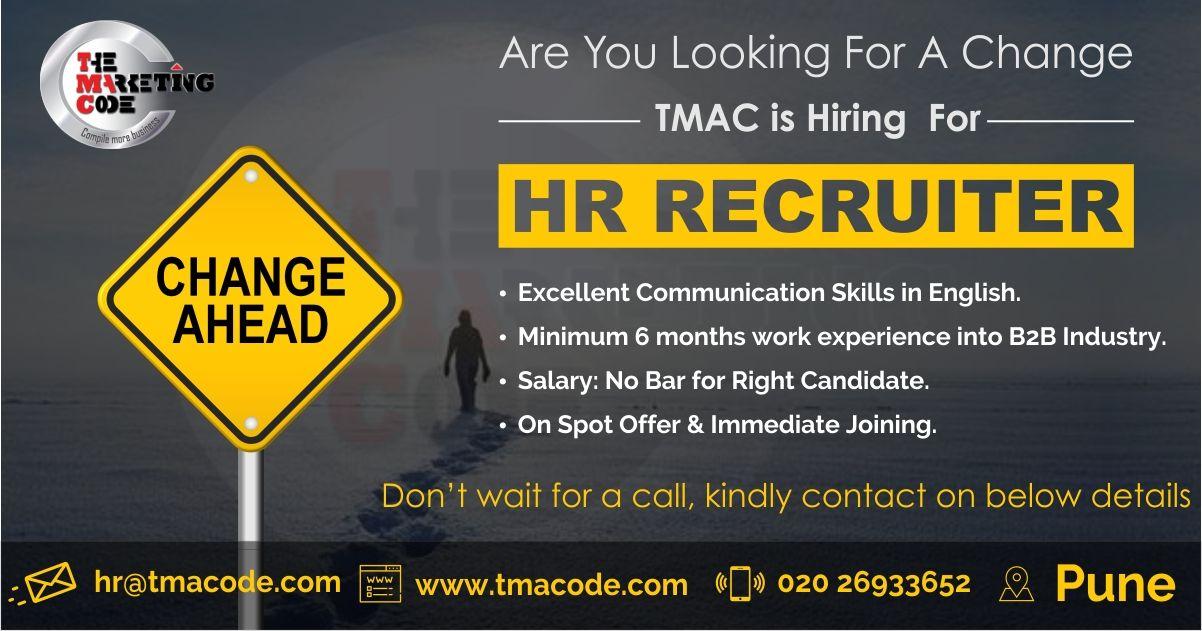 Hello Candidates Hiring For Hr Recruiter For More Information Call On 020 26933652 Share Your Cv At Hr Career Management Looking For A Job Work Experience