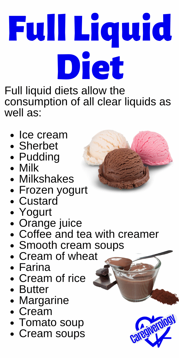 can you eat pudding on a liquid diet