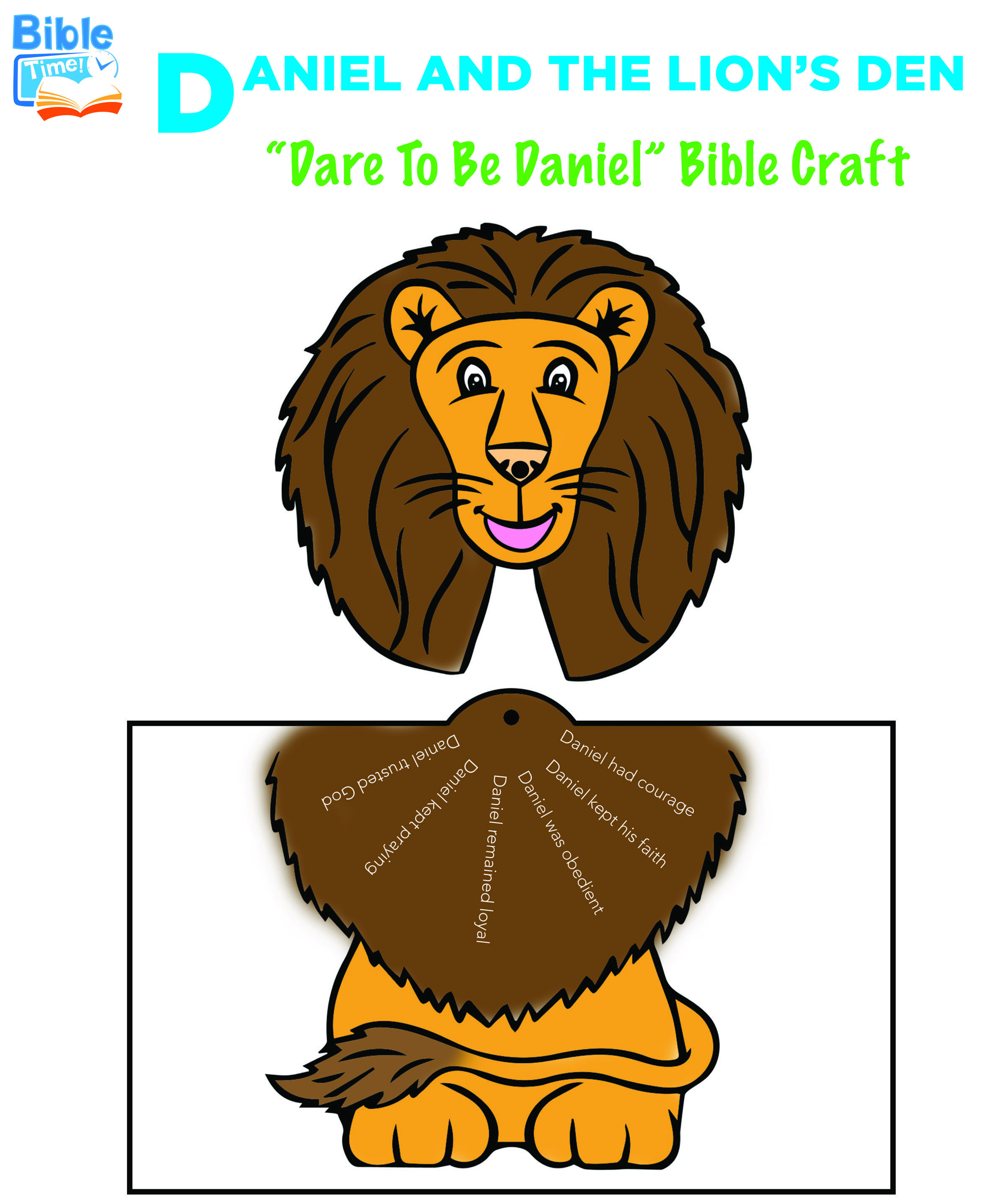Free Daniel Amp The Lion S Den Bible Activities