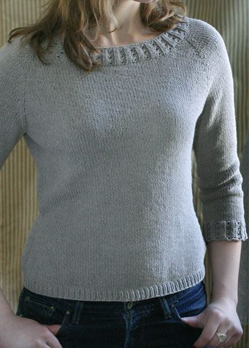 Top Down Pullover Knitting Pattern Basic Sweater Pattern Chic