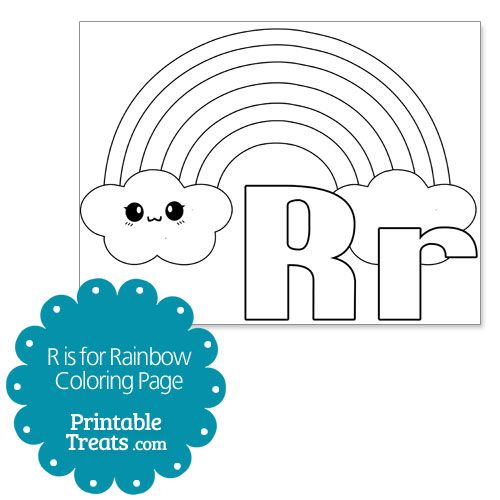 R Is For Rainbow Coloring Page From Printabletreats Com Coloring