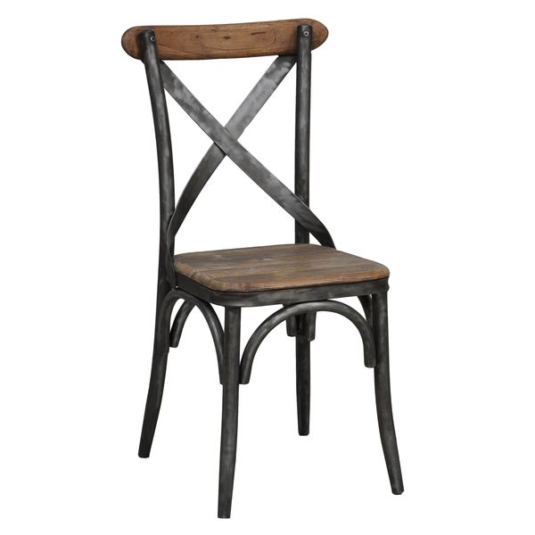 Dixon Reclaimed Wood and Iron Dining Chair by Kosas Home by Kosas Home