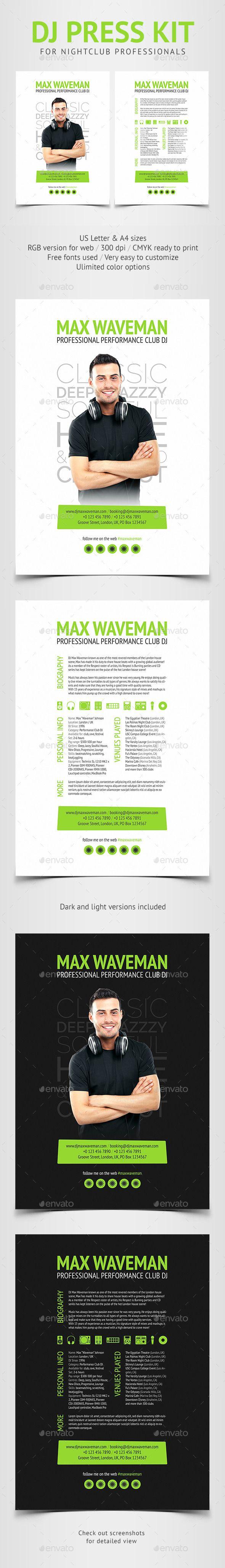 Groove  Dj Press Kit  Resume Psd Template  Press Kits Psd