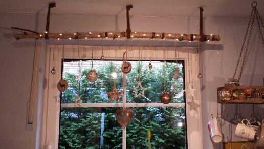 Weihnachtsdeko Gardinen.Birkenstamm Gardinenstange Weihnachtsdeko Basteln Mit Treibholz