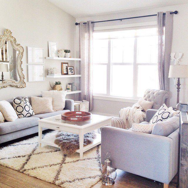 Un salon lumineux aux couleurs sobres #home #livingroom