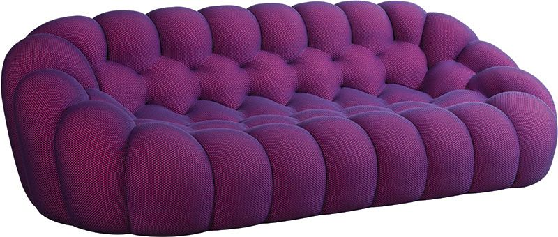 Trendwatch The Colour Purple Tufted Sofa Fabric Sofa Design