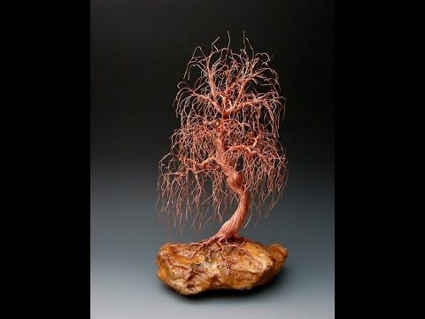 weeping willow wire tree sculpture - 1941 by metal artist Omer Huremovic - YouRepeat