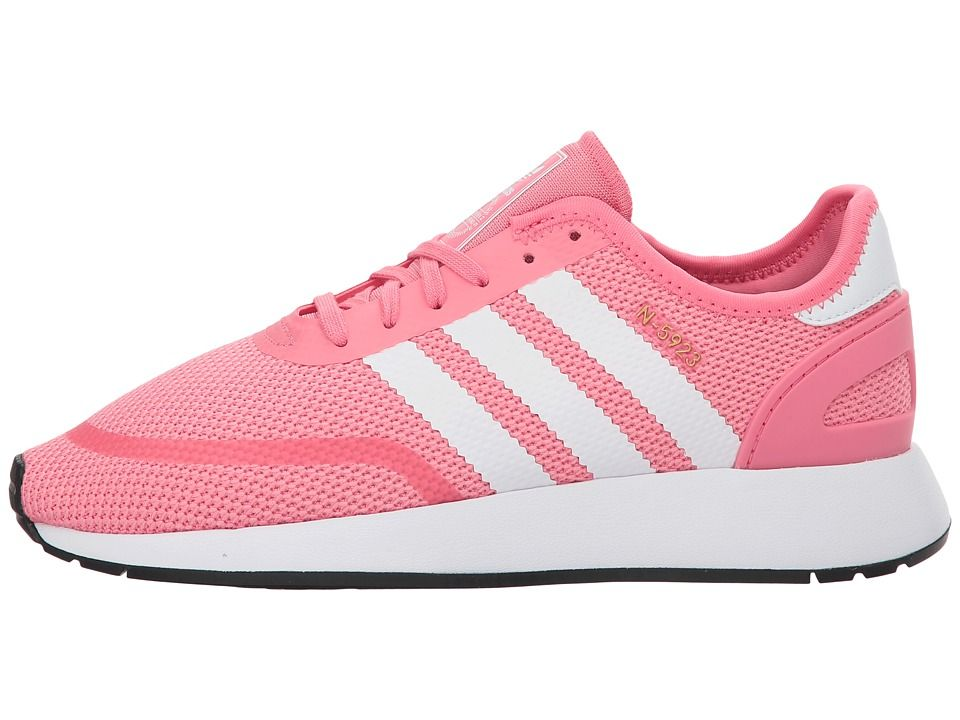0d824c696c2c adidas Originals Kids N-5923 CLS J (Big Kid) Girls Shoes Chalk Pink White