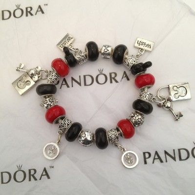 Authentic Pandora Bracelet With Disney Mickey Mouse Charms Ebay