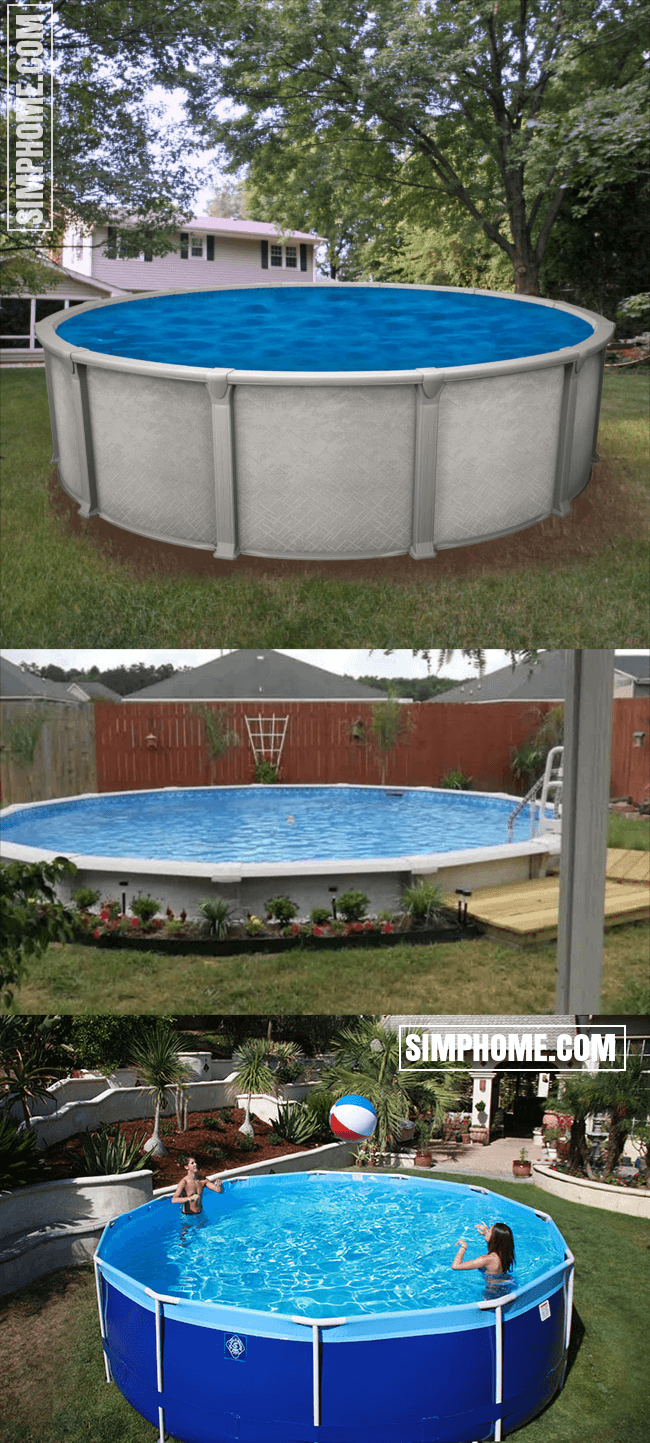 1. SIMPHOME.COM Big Rounded Above Ground Pool in 2020 ...