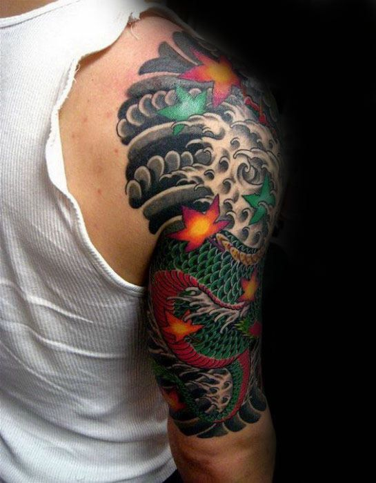 60 Japanese Sleeve Tattoos Half Sleeve Tattoos For Guys Half Sleeve Tattoo Styles Cool Half Sleeve Tattoos