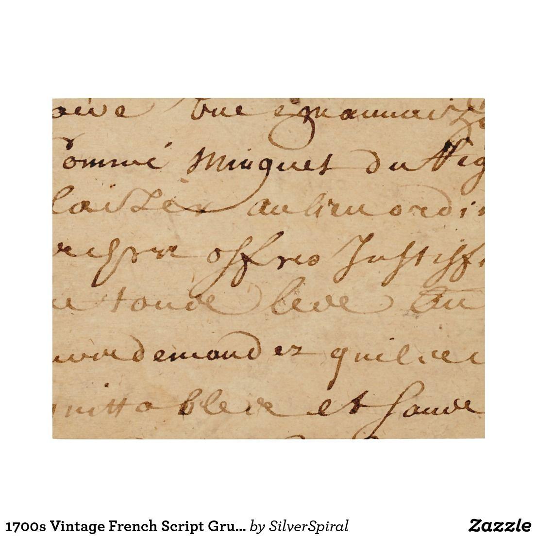 1700s Vintage French Script Grunge Parchment Paper Wood Wall Decor ...