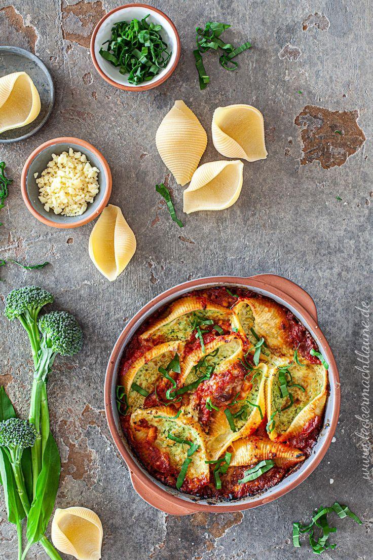 Muschelnudeln mit Brokkoli-Ricotta-Füllung | lecker macht laune