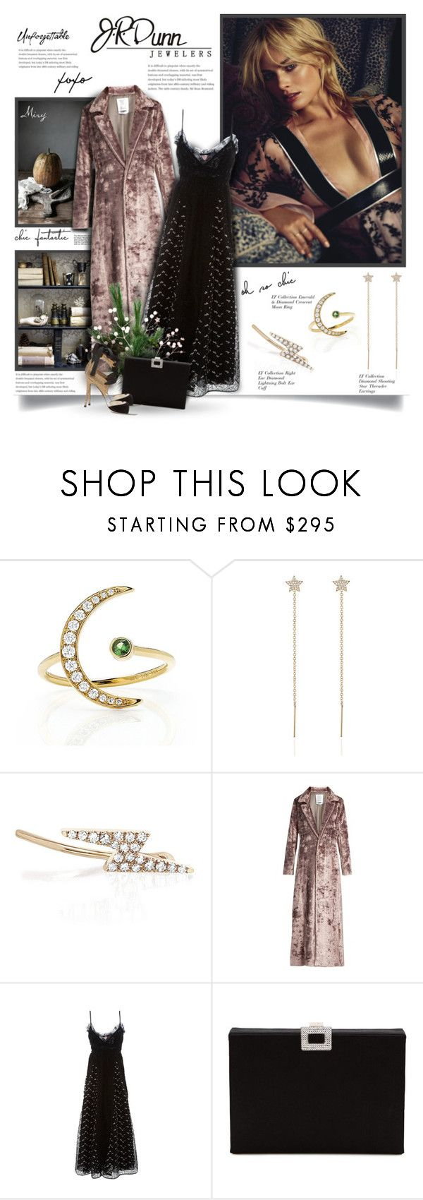 """""""Mix, Stack, Layer"""" by thewondersoffashion ❤ liked on Polyvore featuring EF Collection, Dunn, Rosie Assoulin, Giamba, Roger Vivier and René Caovilla"""
