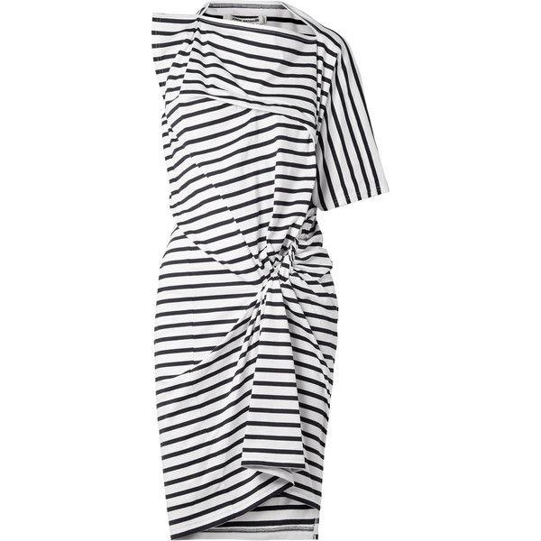 asymmetric striped dress - Black Junya Watanabe alf3k