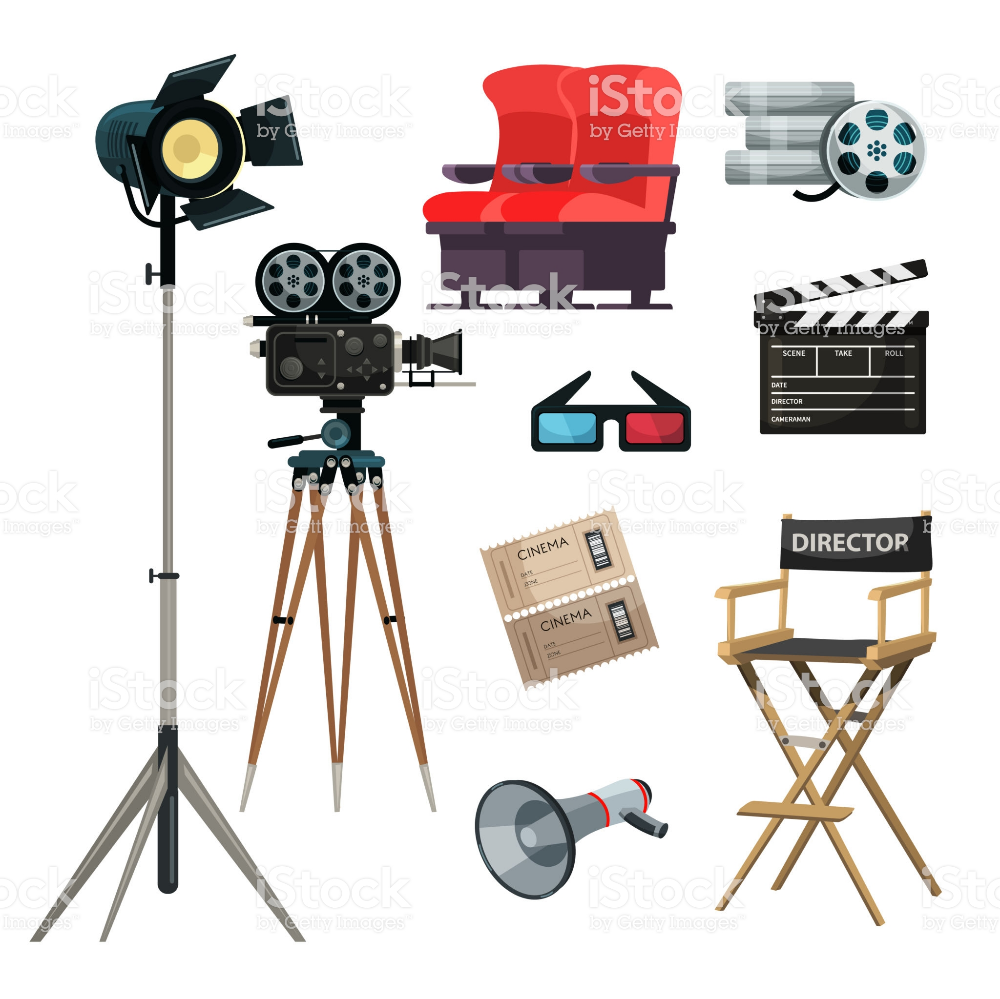 Doodle Movie Film Camera Director Chair Clapper Vector Camera Drawing Camera Illustration Camera Doodle