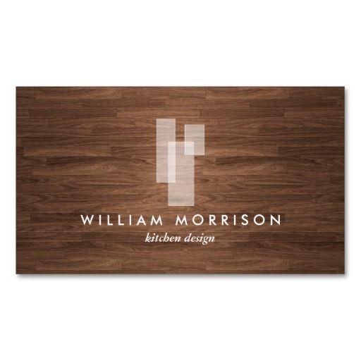 Design My Own Kitchen Online Free: Modern Architectural Blocks Logo II On Woodgrain Business