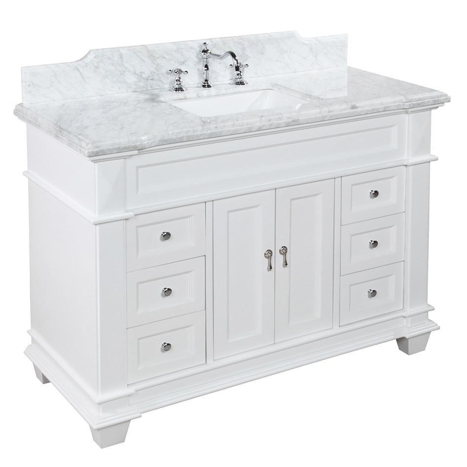 Elizabeth 48 Inch Vanity Carrara Marble Bathroom Vanity Unique Bathroom Vanity Small Bathroom