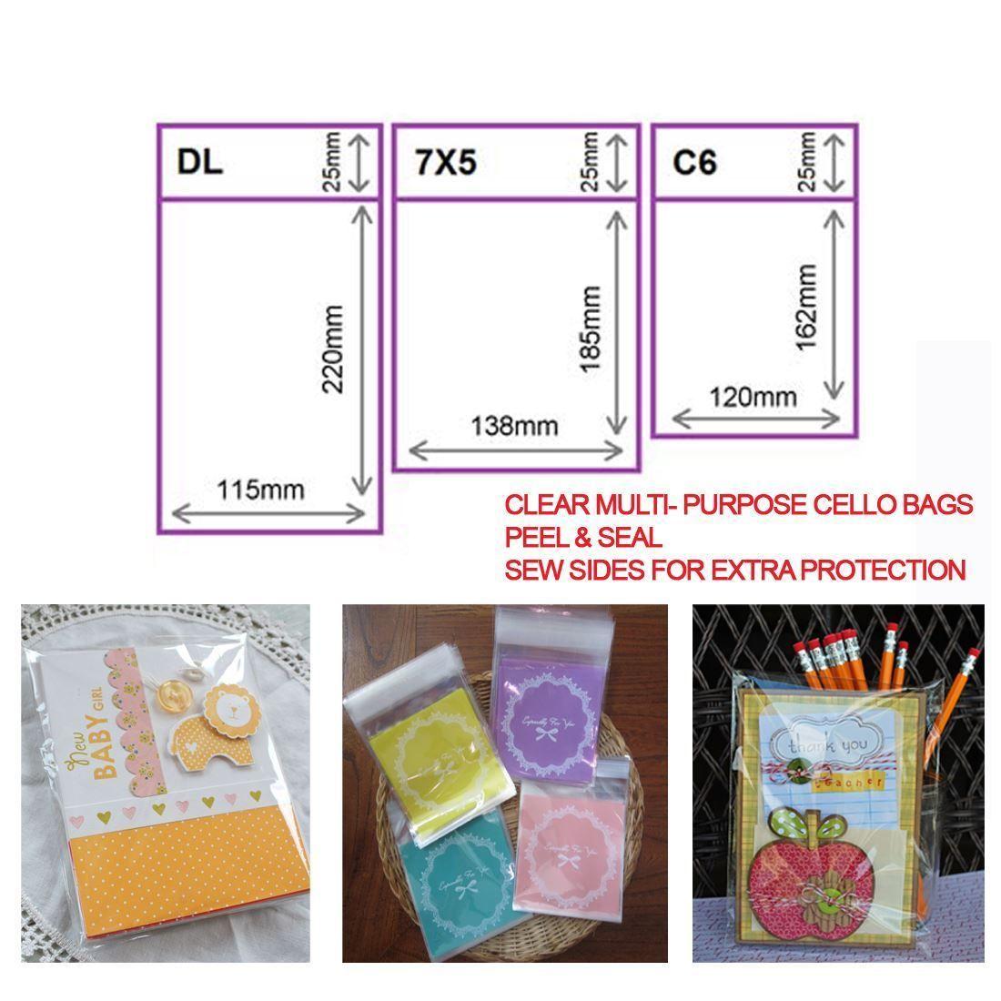 Clear cellophane plastic card bags cello display bags greeting clear cellophane plastic card bags cello display bags greeting cards uk seal m4hsunfo