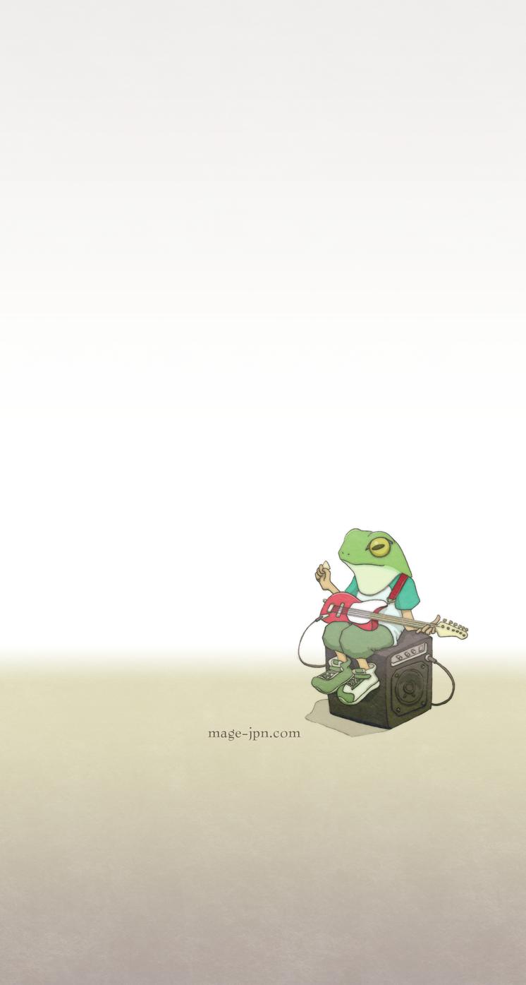 松永安心堂 Amp Frog Guiter Iphone5 カエルアート カエル