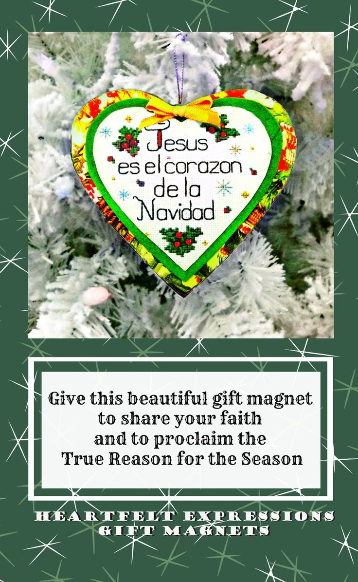 hispanic navidad quote ornament heart magnet gift latino christ centered christmas quote gift basket tag handmade gifts for women pinterest holiday