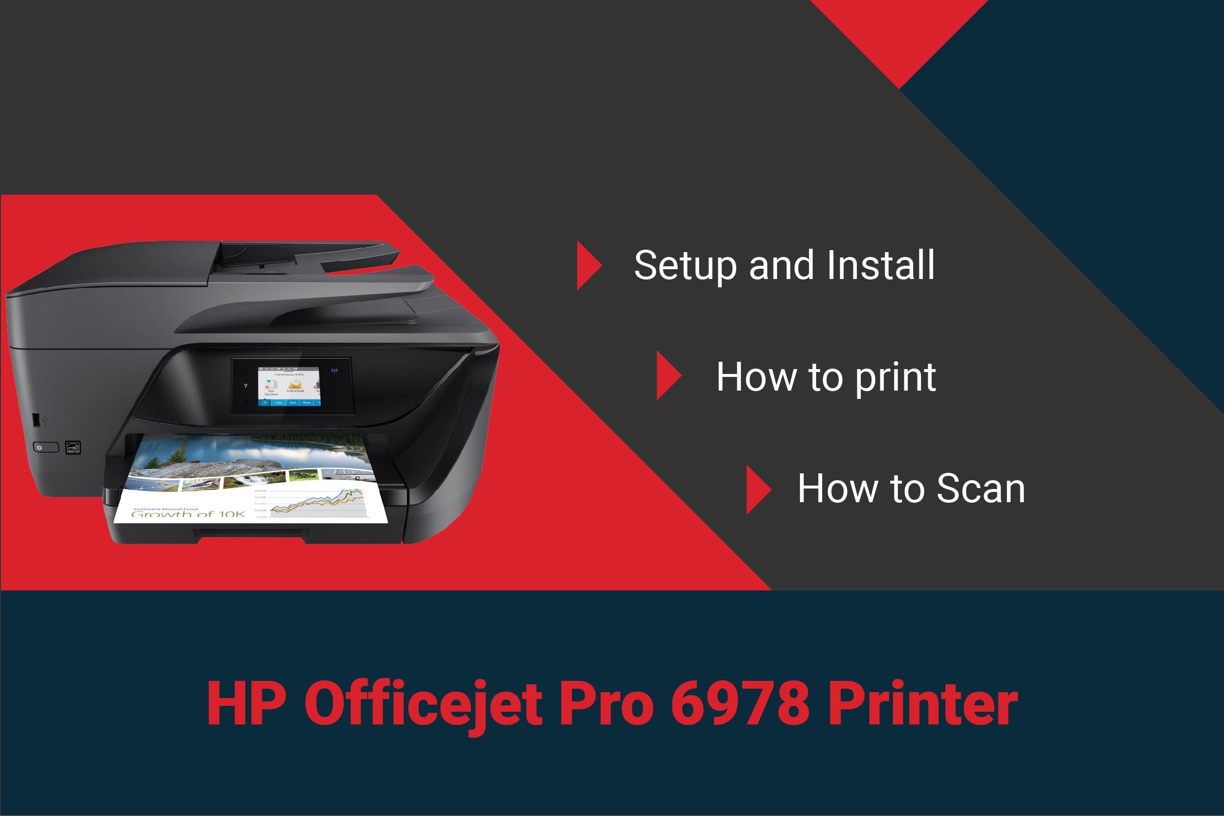 Full HP Officejet pro 6978 printer setup, software