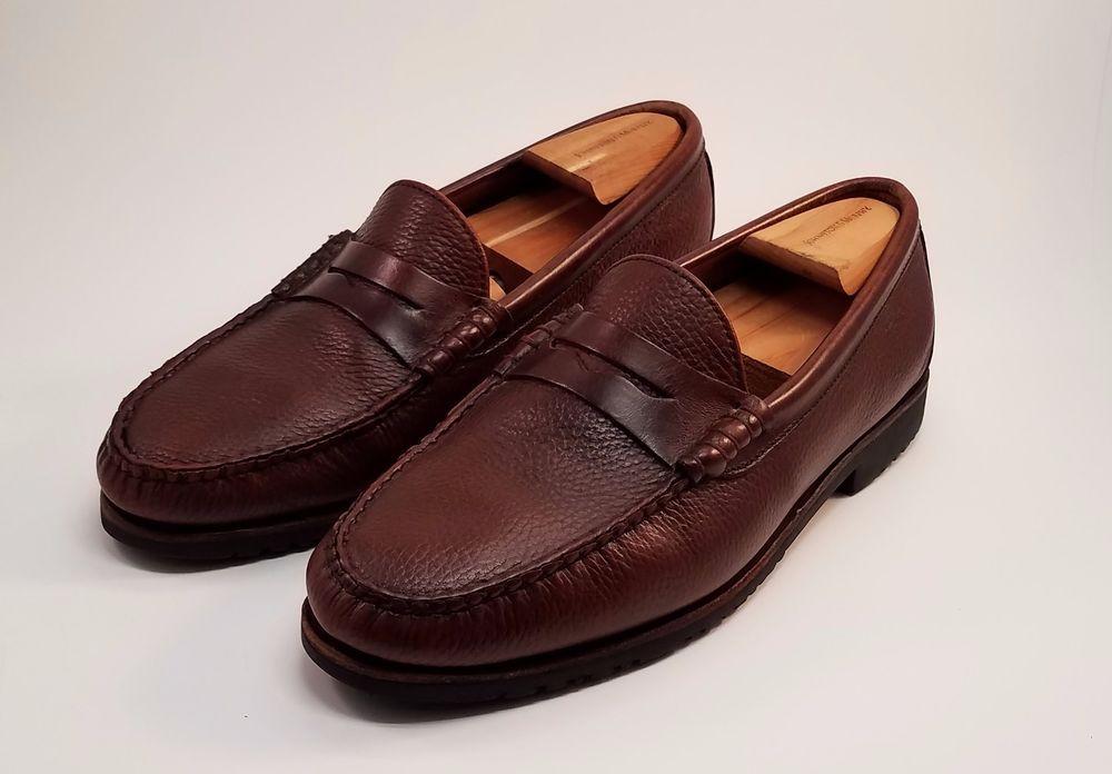 021ee5158f1 Allen Edmonds Holton Mens Shoes Brown Leather Loafers Size 11 3E   AllenEdmonds  LoafersSlipOns