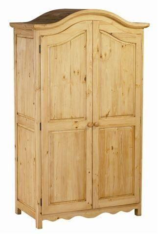 Armoire 2 portes en pin massif au style de montagne 126x66x190cm adp tek import for Armoire pin massif porte coulissante