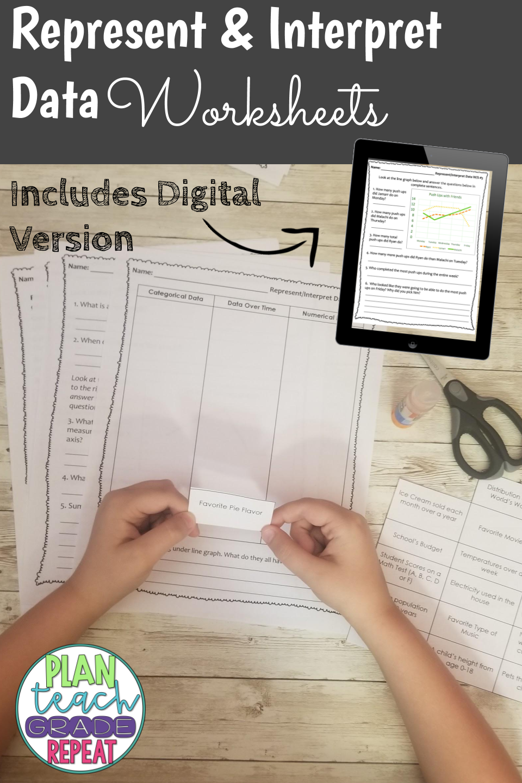 medium resolution of Represent \u0026 Interpret Data Worksheets - 5.MD.2   5th grade math