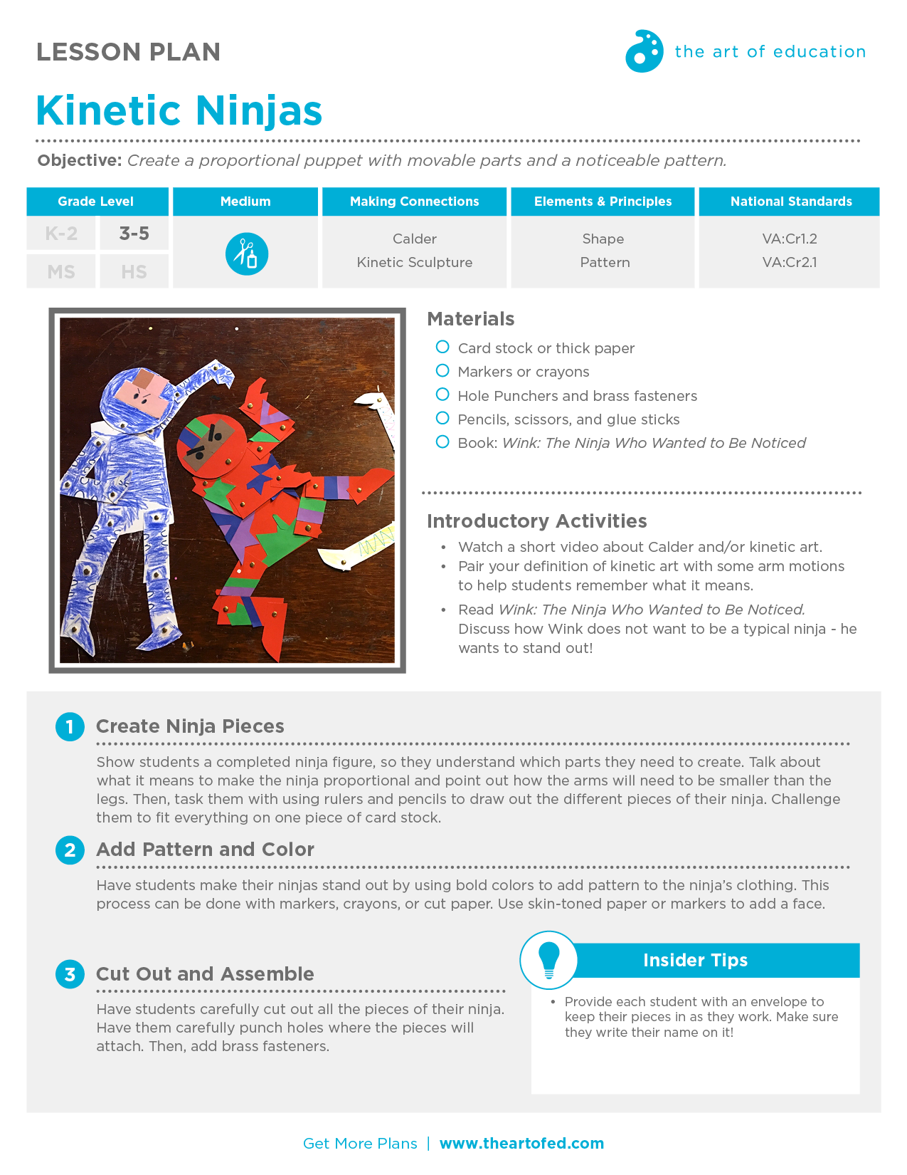 Kinetic Ninjas Free Lesson Plan Download