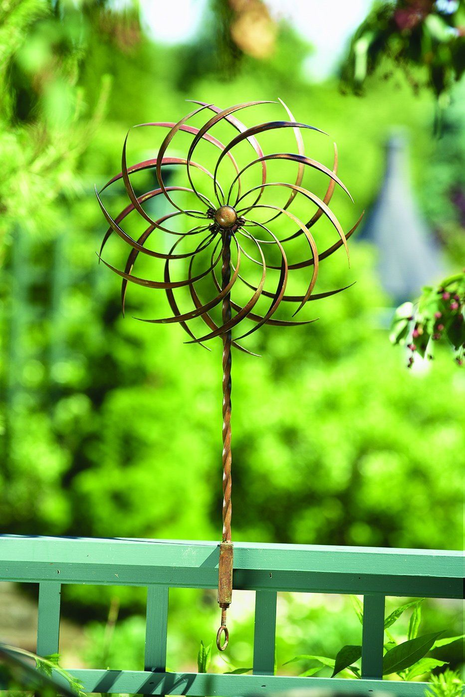 Pinwheel Clamp Garden Yard Wind Spinners Twirls Cheerfully As Breezes Pass Adding A Pleasing Sense Of Motion Garden Spinners Wind Spinners Metal Garden Art