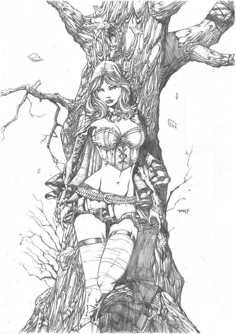 Red Riding by AnEvilKid Grimm fairy tales, Coloring