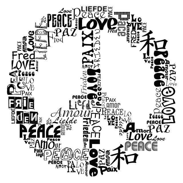 Peace sign Typography image