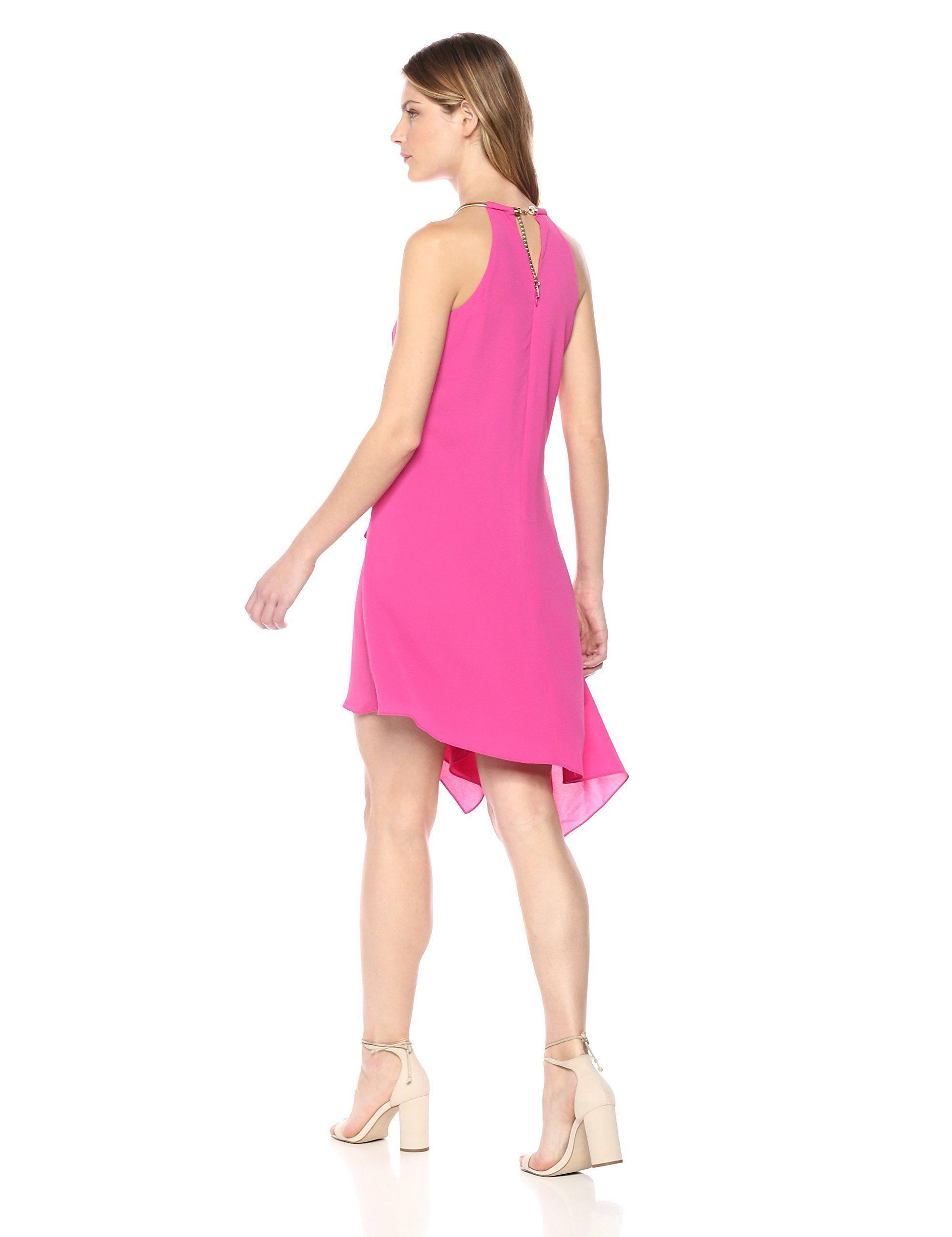 a6ab3575 kensie Dress Womens Gold Chain Halter Neck Dress Rose 12 * Check out the  image by visiting the link-affiliate link. #dresses