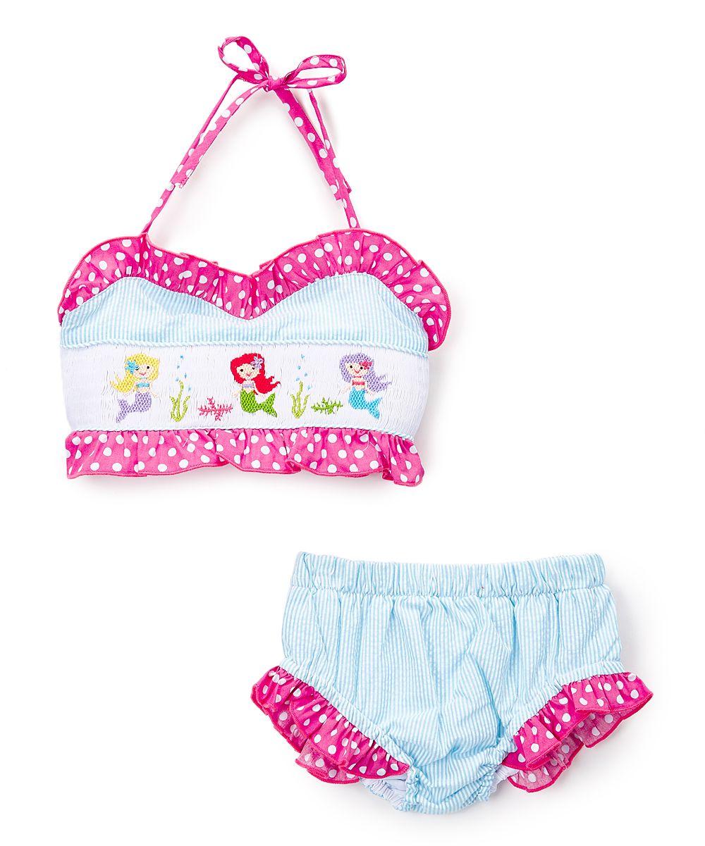 cb7f123488fee Turquoise Mermaid Smocked Bikini - Infant & Girls | Products