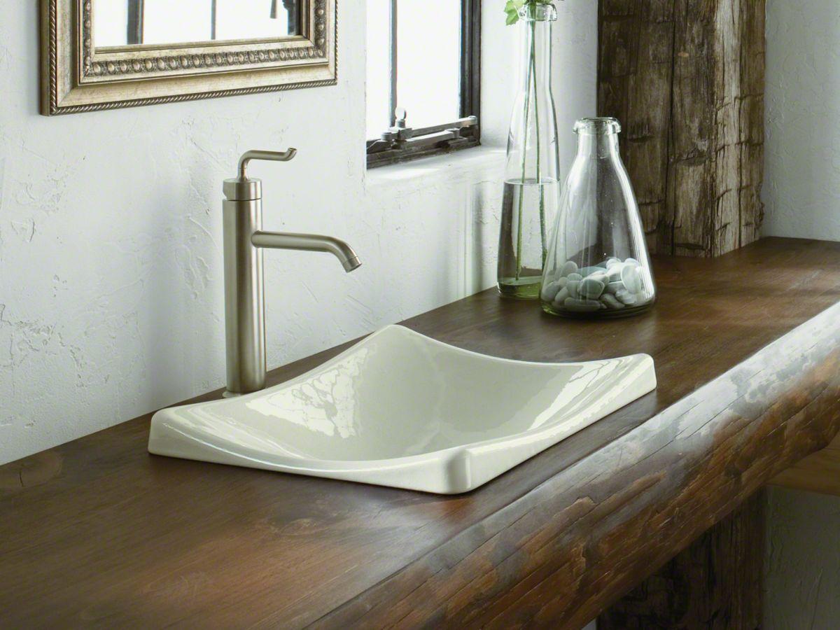 K 2833 Demilav Wading Pool Sink Kohler Drop In Bathroom Sinks Above Counter Bathroom Sink Kohler Bathroom Sink