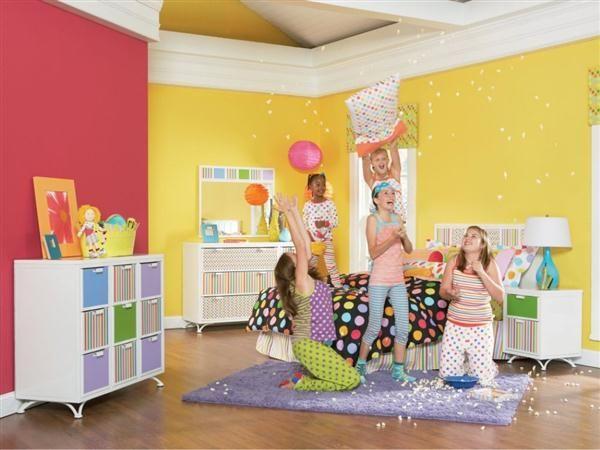 kids bedroom paint colors decorating design ideas colorful painting ...