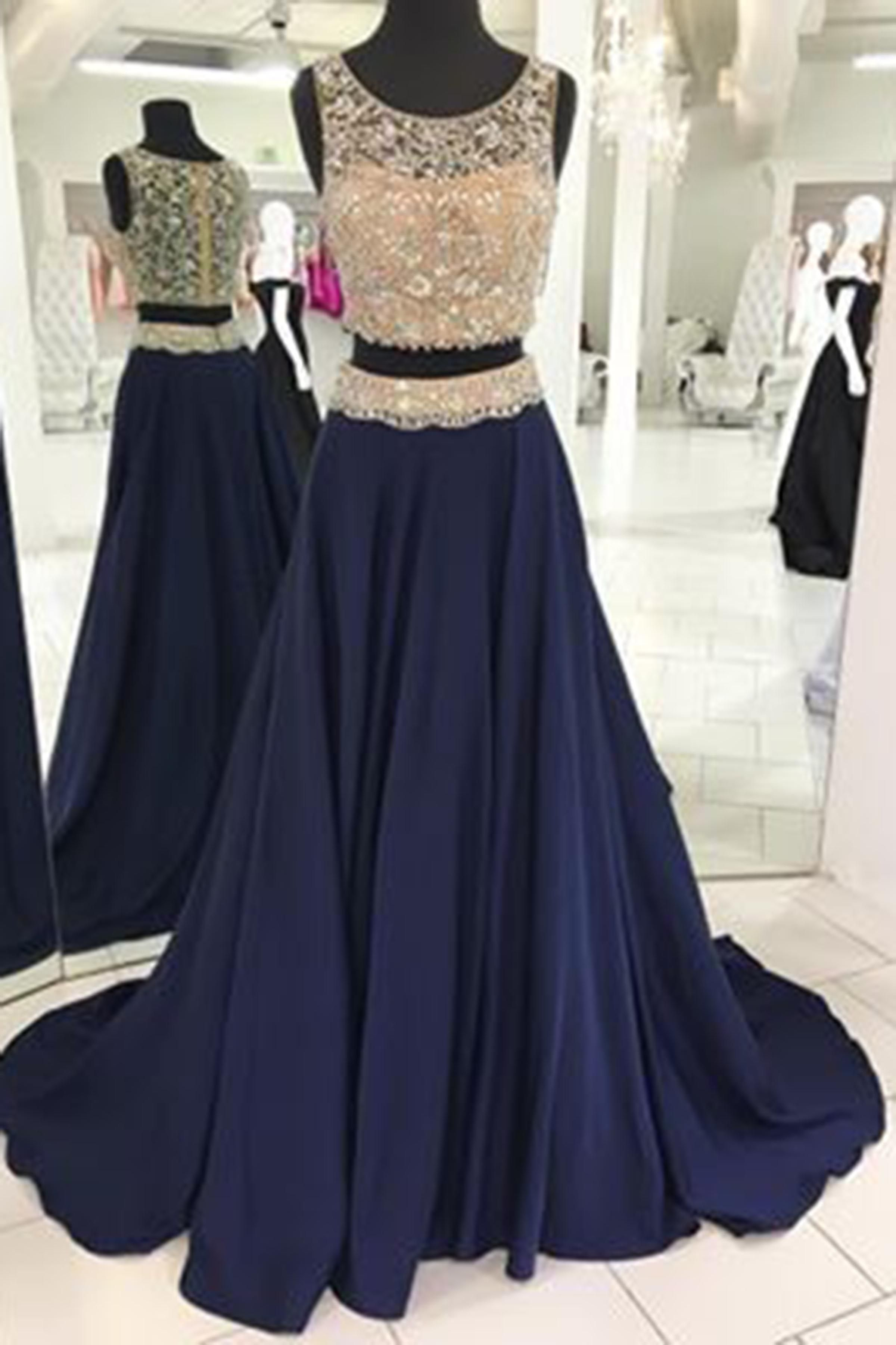 Two pieces long dress