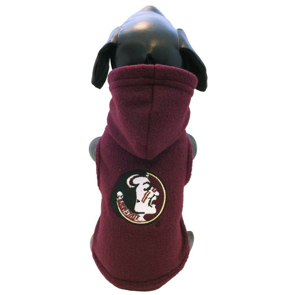 NCAA Florida State Seminoles Polar Fleece Hooded Dog Jacket